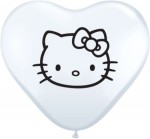 hello kitty white heart