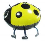 walking pet ladybug yellow
