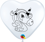 unicorn profile heart