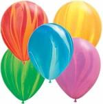 Qualatex Super Agates and Suzuki Peacock Balloons