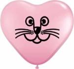cat heart pink