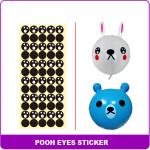 sticker sheet 6 bear eyesB602D