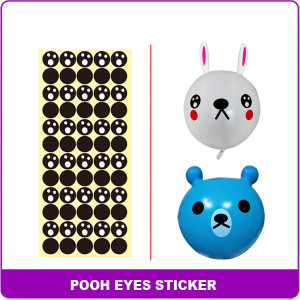 sticker sheet 6 bear eyesB602D