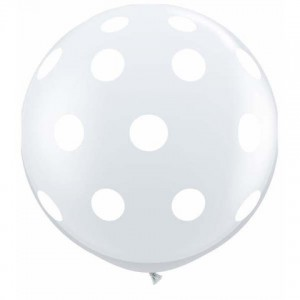 3ft clear polka dots