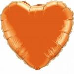 heart foil orange