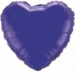 heart foil purple