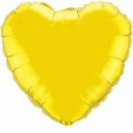 heart foil yellow