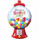 foil shape sweet day candy gumball