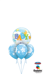 bouquet kit Baby Boy Stars Moons Bubble Layer RUSSIAN