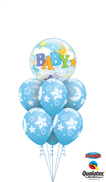 bouquet kit Baby Boy Stars Moons Bubble Luxury