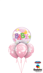 bouquet kit Baby Girl Stars Moons Bubble Layer