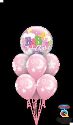 bouquet kit Baby Girl Stars Moons Bubble Luxury