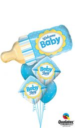 bouquet kit welcome baby boy bottle