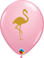 flamingo on pink 11 inch