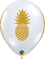 pineapple gold on clear 11 inch