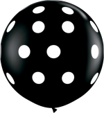 black polka 3 foot