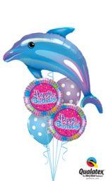 Delightful-Blue-Dolphin-Balloon-Bouquet