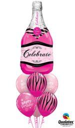 Pink-Champagne-Birthday-Balloon-Bouquet