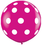 polka dot wildberry 3ft