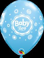 baby boy blue dots