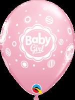 baby girl pink dots