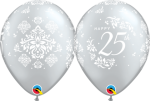 happy 25th damask latex