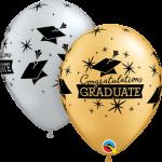 congrats grad caps gold silver