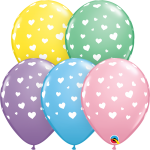 pastel random hearts