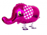 pink elephant walking pet